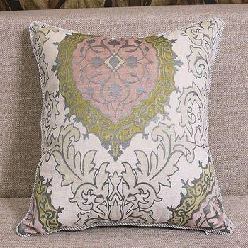 白色典雅歐式奢華床頭大靠背沙發靠墊含芯