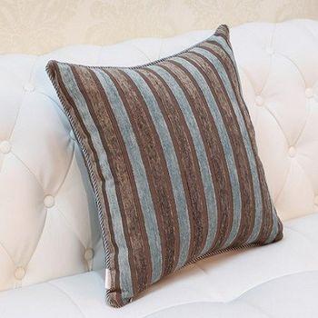 藍綠色條紋床頭沙發靠背大靠墊抱枕含芯
