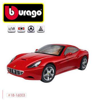 【BBURAGO】1/18法拉利平裝版-CALIFFORNIA Tclose top 跑車 模型車