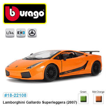 【BBURAGO】1/24藍寶堅尼Gallardo Superleggera 跑車 模型車