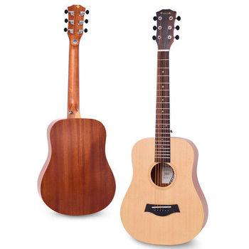 Enya 34吋 雲杉木面板 旅行吉他(EB-02)+送超值五寶