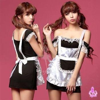 i-Style  嬌俏老婆!百變情人二件式角色服(黑白)【AB01293】