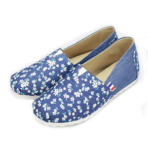 FUFA MIT  牛仔藍質感懶人鞋   (FT03)-小花籃