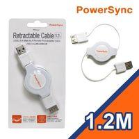 群加 USB2.0 M ^#47 F易拉線1.2米 ^#40 白色 ^#41 USB2 ^
