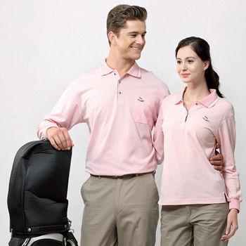 【Per GIBO】吸溼排汗女版長POLO衫(PK802851)粉紅