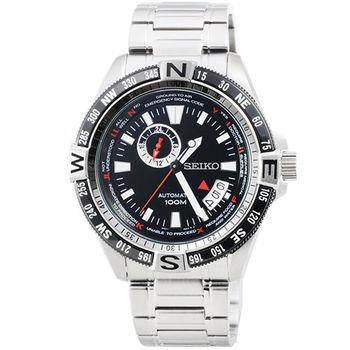 SEIKO 精工SUPERIOR超霸機械鋼帶腕錶-黑 / SSA095K1