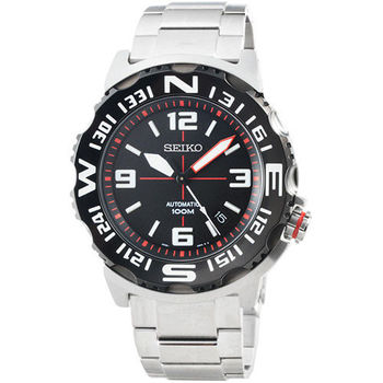 SEIKO 精工SUPERIOR超霸機械鋼帶腕錶-黑 / SRP445K1