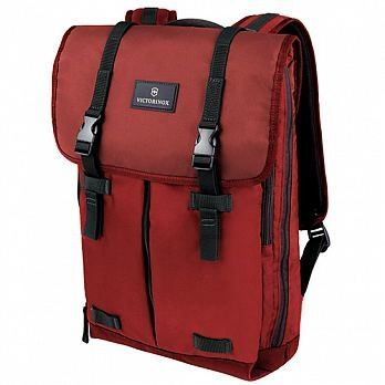 VICTORINOX 瑞士維氏Flapover 15吋電腦後背包-紅 32389303