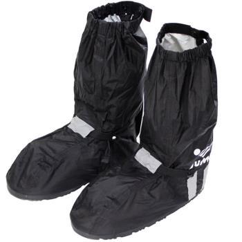 JUMP新一代反光厚底雨鞋套-黑色