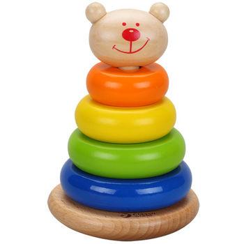 【德國classic world】經典木玩 客來喜 熊熊套圈圈