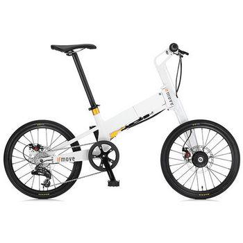 IF MOVE- 20鋁合金三秒折疊單車-經典白-金圈