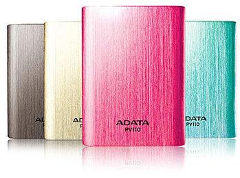 [ ADATA 威剛 ] APV110-10400M 雙USB行動電源(鈦.桃紅.金.藍)