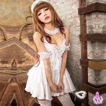 i-Style  嫵媚情人!六件式派對角色扮演服(白)【AB01166】