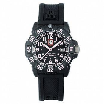 LUMINOX 雷明時 海豹部隊經典腕錶-黑x粉時標/38mm (LM-A7065)
