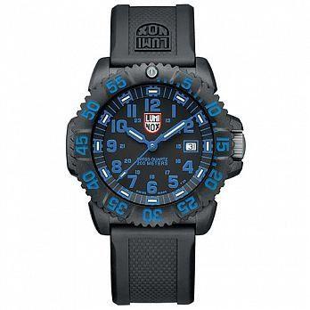 LUMINOX 雷明時 海豹部隊指標系列經典腕錶-黑x藍時標/44mm A3053