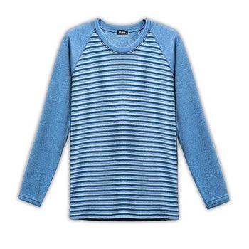 【HENIS】速暖絨彈性條紋圓領衫3件組-型(網)