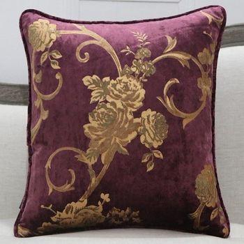 美式鄉村花卉圖案沙發靠枕含芯