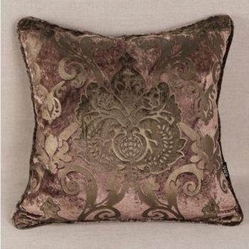 燙金絨布床頭沙發抱枕靠墊含芯