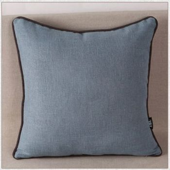 清涼現代簡約純色棉麻布抱枕含芯