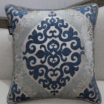 新古典高檔雕印燙金絨布抱枕含芯