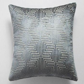奢華面料藍色格子中式沙發靠含芯