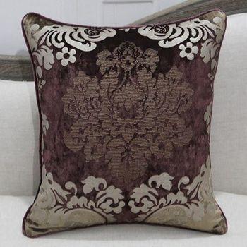 新古典奢華絨布燙金床頭沙發抱枕含芯