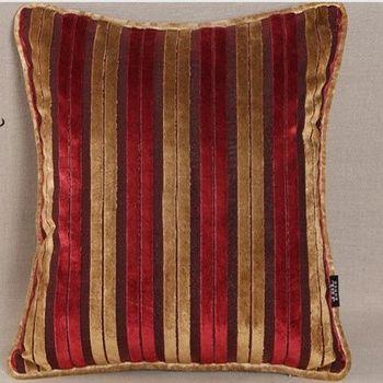 現代條紋絨布抱枕靠墊含芯