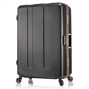 日本 LEGEND WALKER 6703-64-26吋 電子秤鋁框輕量行李箱 碳纖黑