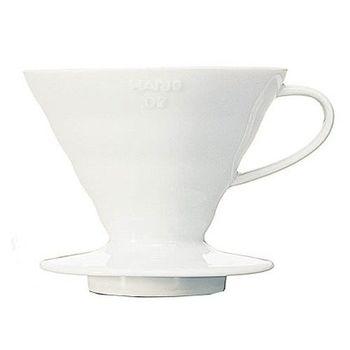 日本HARIO-V60白色02陶瓷濾杯1~4杯-VDC-02W