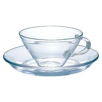 日本HARIO個性玻璃咖啡杯盤組230ml CSW-1T