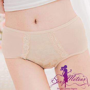 【Sexy Meteor】全尺碼-溫柔呵護花紋中低腰三角內褲(輕柔膚)A2436-02