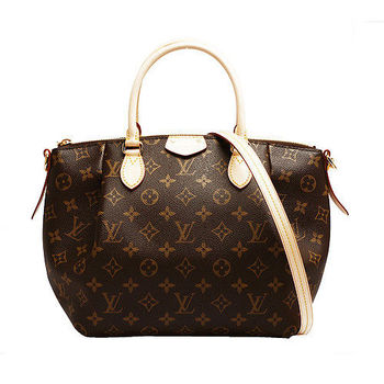 LV M48813 經典Monogram TURENNE PM 手提/斜背水餃包(小)