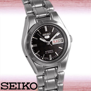【SEIKO 精工】日製盾牌五號格菱紋精緻品味女錶(SYMH21J1)