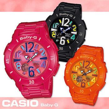 【CASIO 卡西歐 Baby-G 系列】超人氣亮彩大數字霓虹照明系列(BGA-171)