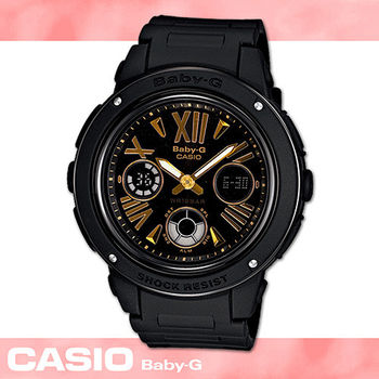 【CASIO 卡西歐 Baby-G 系列】時尚酷炫運動雙顯女錶(BGA-153 黑)