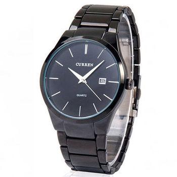 【CURREN】男士精密石英腕錶-黑 FFQ-8106