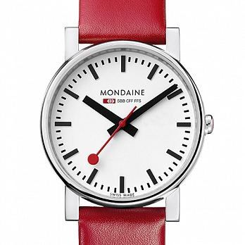 MONDAINE 瑞士國鐵經典腕錶/38mm (6604411R)