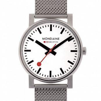 MONDAINE 瑞士國鐵經典鋼鍊錶/35mm (658011V)