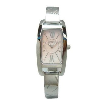 MANGO 性感寶貝時尚優質女性晶鑽腕錶-粉紅-MA6668L-11