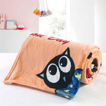 Lapin 慵懶黑貓 四季保暖法蘭絨毯(150x190cm)