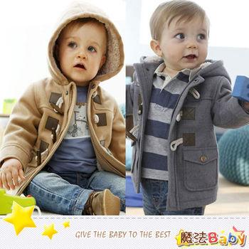魔法Baby~厚款牛角釦保暖內羊羔絨連帽外套~k26719