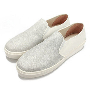 FUFA MIT  亮點皮質感懶人鞋  (FE49) 銀白