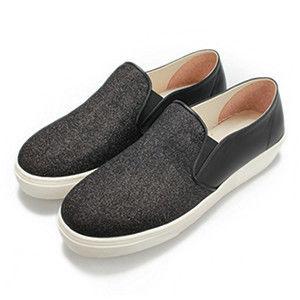 FUFA MIT  亮點皮質感懶人鞋  (FE49) 黑黑
