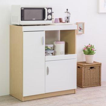 【尼克斯】鏡面雙門五格廚房收納櫃