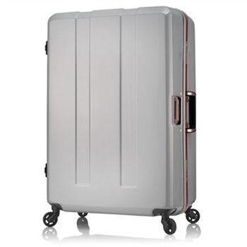 日本 LEGEND WALKER 6703-70-29吋 電子秤鋁框輕量行李箱 碳纖白