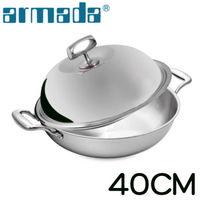 ~armada~菁英 5層316不鏽鋼複合金瑞士雙耳炒鍋 ^#45 40cm