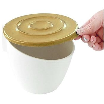 日本製造HACHIMAN流理台抗菌吸盤收納筒(咖啡色)