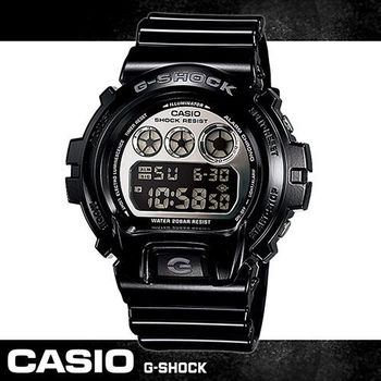 【CASIO 卡西歐 G-SHOCK 系列】耀眼高彩度金屬色運動男錶(DW-6900NB 黑款)