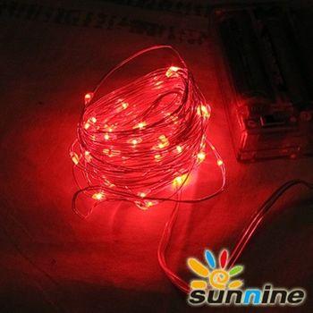 旭創光電 LED 燈飾燈串-50燈 (紅光)  1組