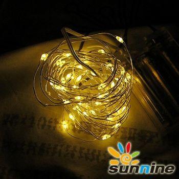 旭創光電 LED 燈飾燈串-50燈 (暖白)  1組